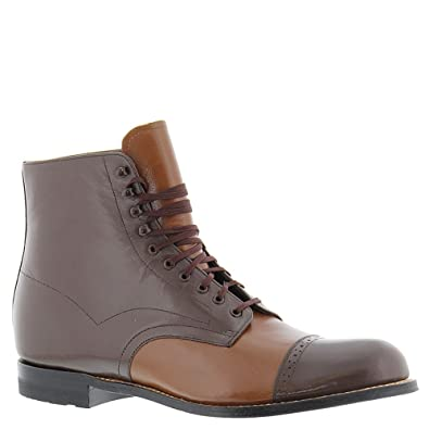Stacy Adams Mens Madison Cap Toe Boot (00015), Oak Multi, 10 EE