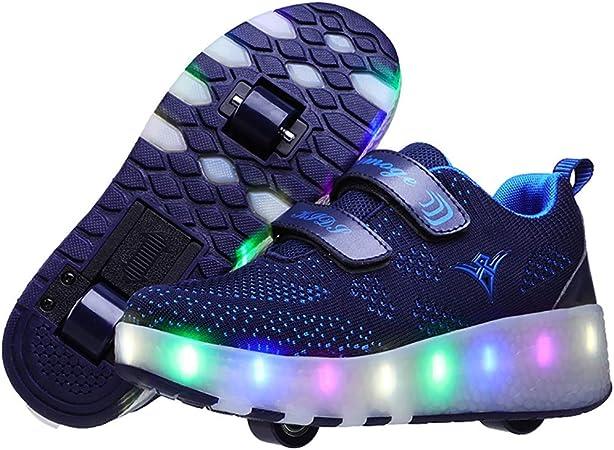 Unisex Led Luz Automática de Skate Zapatillas USB Cargando Zapatos Patines Deporte Gimnasia Running Zapatillas con Ruedas Zapatillas34 EU: Amazon.es: Hogar