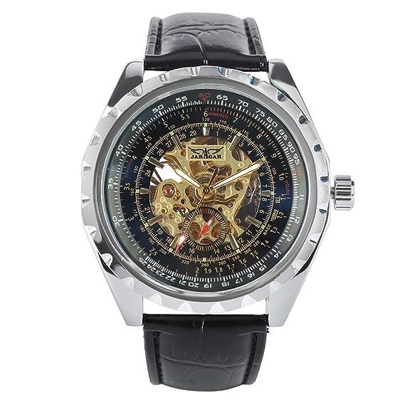 Jaragar - Reloj de Pulsera para Hombre, automático, mecánico, de Cristal, para