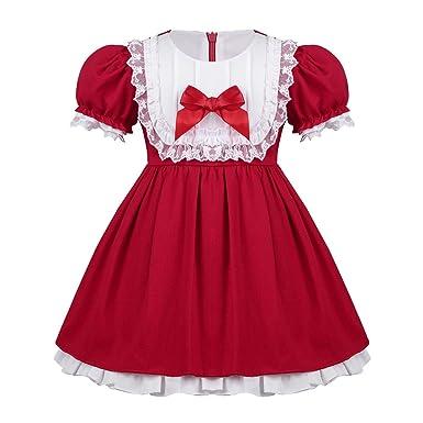 5ca49b48aa0e6 MSemis Déguisement Noël Bébé Fille Costume Petite Mère Noël Robe à Manche  Courte Vêtement Santa Fille