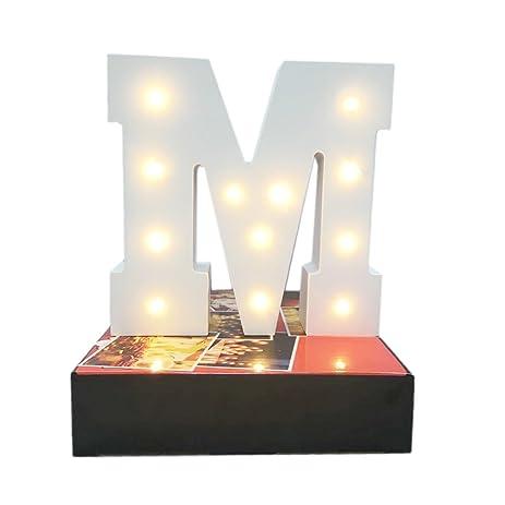 Decorative light up wooden alphabet letterwonfast diy led letter lights sign party wedding holiday