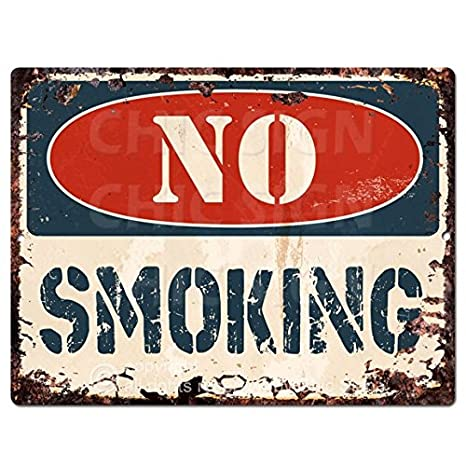 Amazon.com: No Smoking Chic Sign Retro rústico 9