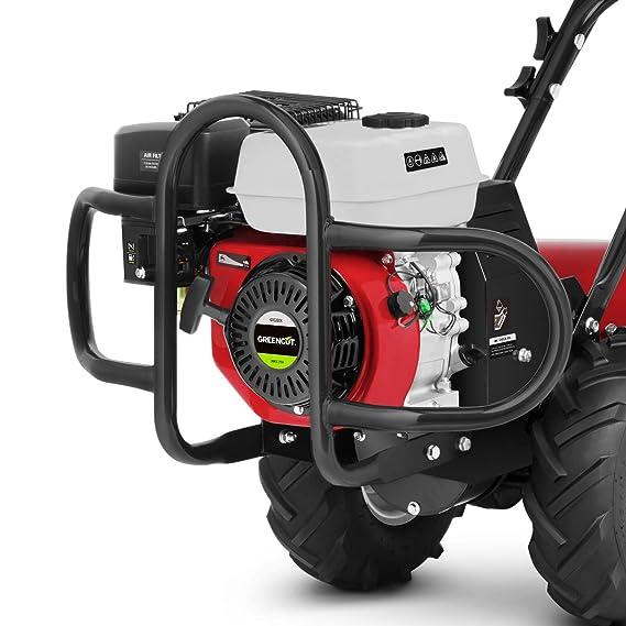 Greencut GTC220X Motocultor de Gasolina 7cv Ancho de Trabajo 70cm, Rojo, 70 cm