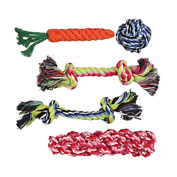 Pacific Pups Products supporting pacificpuprescue.com dog rope toys for aggressive chewers-set of 11 nearly indestructible dog toys-bonus giraffe rope toys-benefits non profit dog rescue. 8