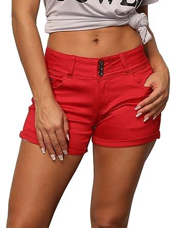 magasiner pour l'original date de sortie dernière vente Uoohal - Short - Femme - Rouge - 46: Amazon.fr: Vêtements et ...