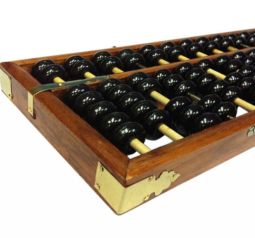 Lucky Will chino Vintage h/ölzern Abakus Abacus soroban Tool Herramienta de c/álculo Rastrillo Marco RE