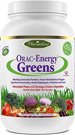 Paradise Herbs Orac Energy Powder, Greens, 364 Gram by Paradise Herbs
