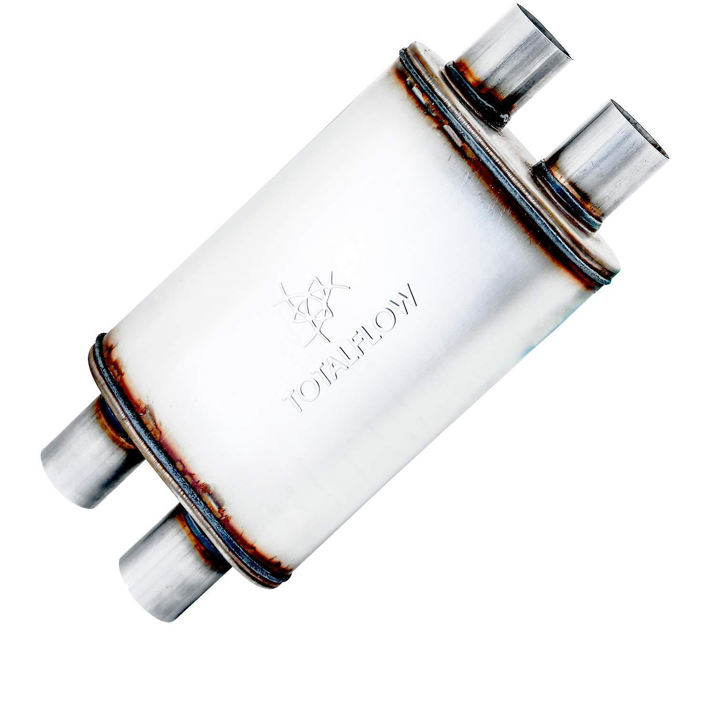 TOTALFLOW 31224 14 Muffler Body Straight Through Deep Tone Performance Muffler-14 Length 20 OAL-Oval 4 x 9-2 Offset 2 Center Reversible//Bi-Directional