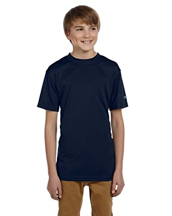 72e5ec5c Amazon.com: Product of Brand Champion Double Dry Youth 41 oz Interlock T- Shirt - Navy - XL - (Instant Savings of 5% & More): Clothing