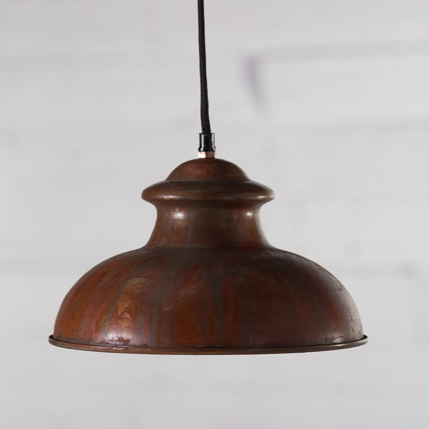 Kalalou Pendant No. 8 - Antique Rustic, Copper, 10L x 10W x 6H ...