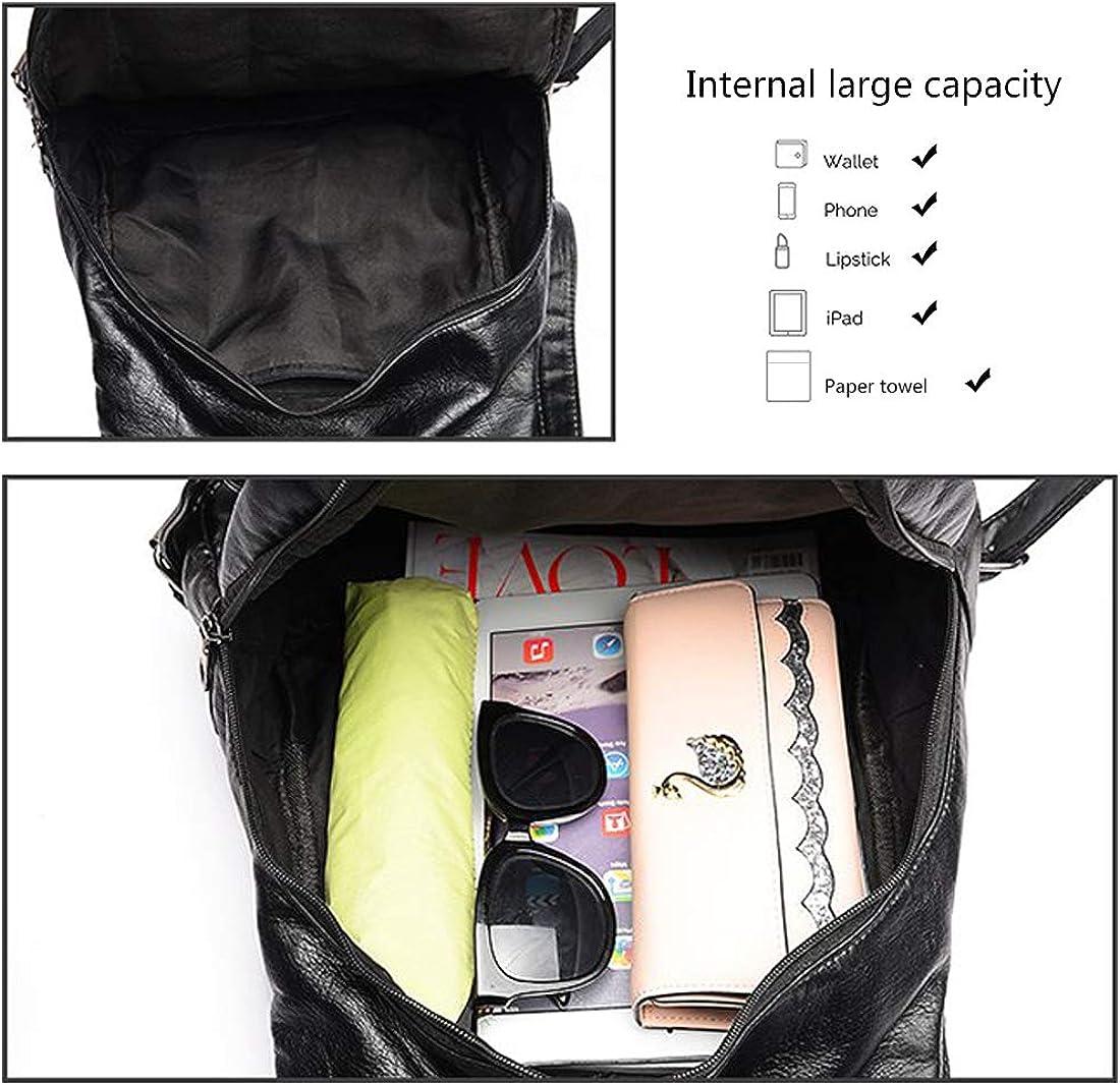 Leparvi Women Backpack Purse Vagen Leather Girl Convertible Rucksack HandBag