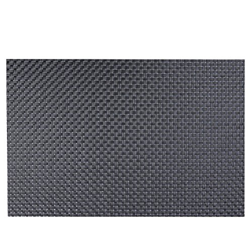 Diamondo 4pcs Placemat Heat Insulation PVC Plate Mat Cup Bowl Pads (7 Colors) (Dark Gray)