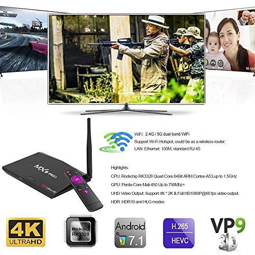 MX9 Pro RK3328 Quad Core 64Bit 4GB 32GB Smart Android 7.1 TV Box 4K Dual WIFI BT by NOOOSHI (Image #8)