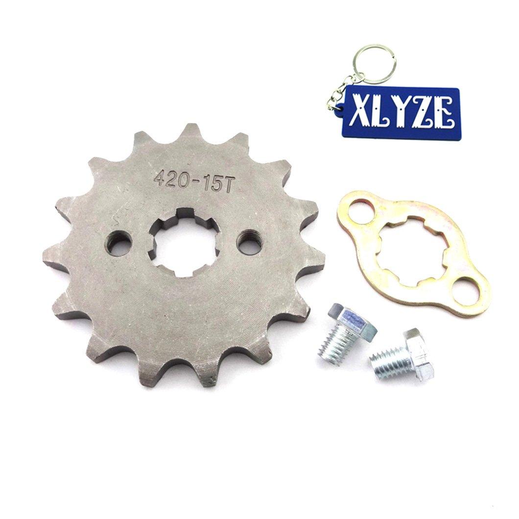 xlyze 420/15/Z/ÄHNE ZAHNRAD-Ritzel Kette vorne 17/mm f/ür ATV 50/cc 70/cc 90/cc 110/cc 125/cc Dirt Pit Bike YCF SSR