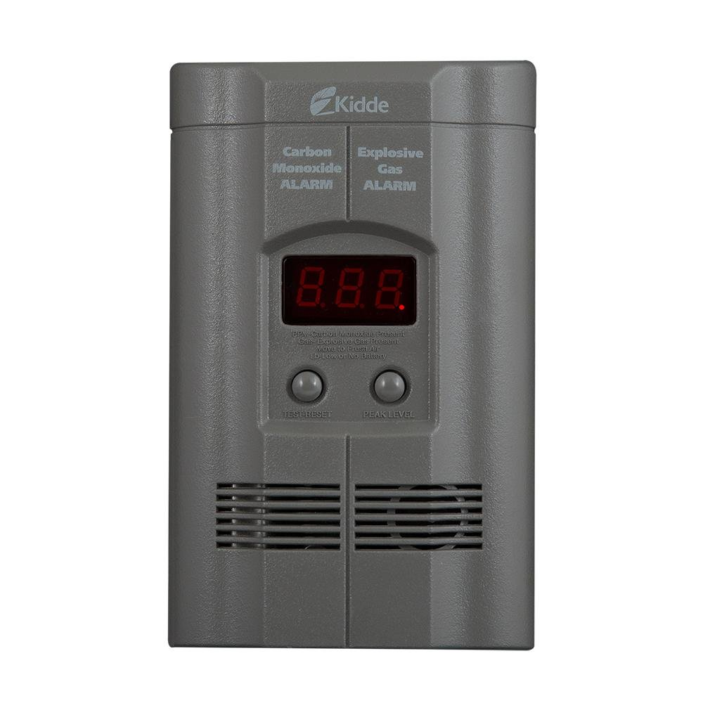 Nighthawk Plug in Carbon Monoxide Explosive Gas Alarm with Digital Display KN COEG 3 GREY 1