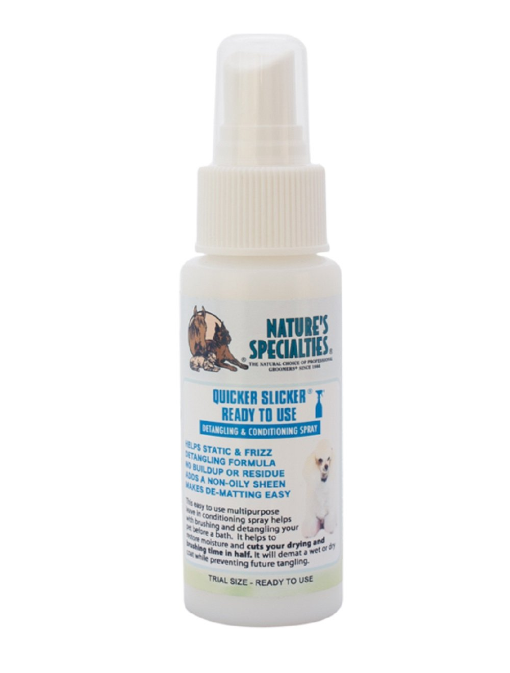Nature's Specialties Quicker Slicker Ready to Use Pet Conditioner, Trial Size
