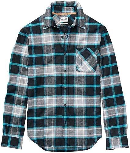 Timberland Back River Regular Fit - Camisa de montaña para Hombre (Manga Larga), Cuadriculado, Color Azul (296), tamaño Large: Amazon.es: Deportes y aire libre