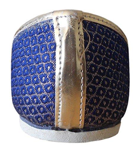 Kalra Creations - Zapatillas de estar por casa de Seda para hombre Azul