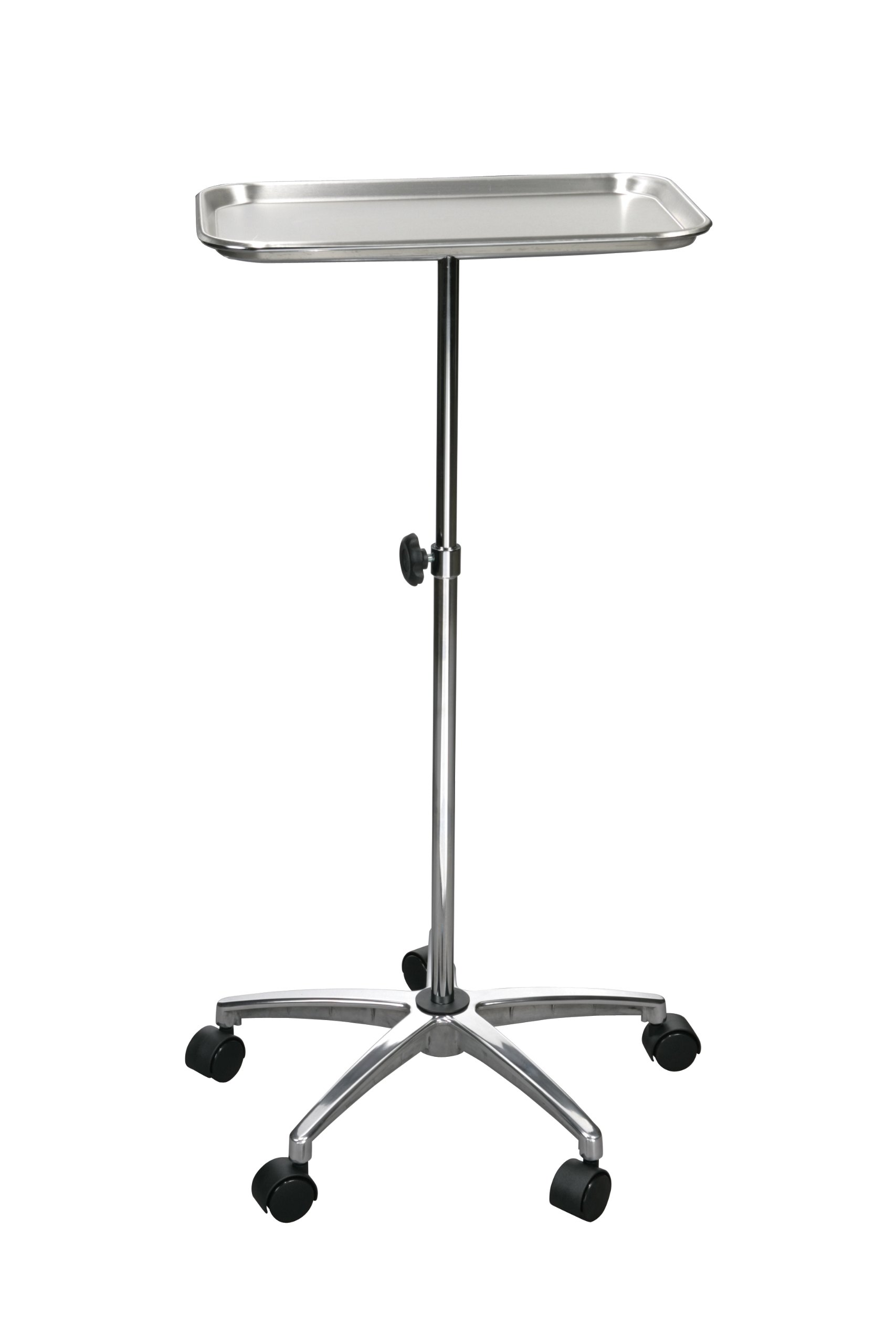 Drive Medical Mayo Instrument Stand with Mobile 5'' Caster Base, Chrome by Drive Medical