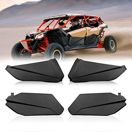 Maverick X3 Max Lower Door Panel Inserts with Lower Frame OEM Style Works  for 2017 2018 2019 Can Am (4 Doors)