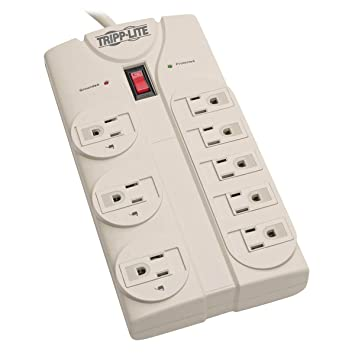 amazon com tripp lite 8 outlet surge protector power strip 8ft rh amazon com