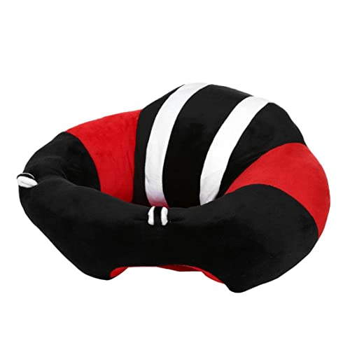 Trimakeshop Infant Sitting Chair Floor Support Seat Nursery Pillow Protectors Plush Toys Black