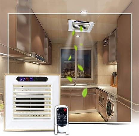 Extractor de aire ZHAOSHUNLI Ventilador De Escape Control Remoto Ventilador De Techo Integrado Cocina Ventilador De Refrigeración Baño Liangba: Amazon.es: Hogar