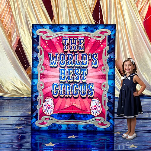 6 ft. Vintage Circus Poster Standee Standup Photo Booth Prop Background Backdrop Party Decoration Decor Scene Setter Cardboard Cutout -