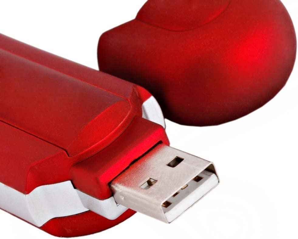 MeterMall 8GB Red Cute Mini MP3 Music Player USB 2.0 Flash Drive LCD Display w//FM Radio Voice Recorder
