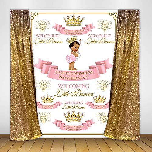 Mehofoto Royal Princess Baby Shower Backdrop Welcoming Princess