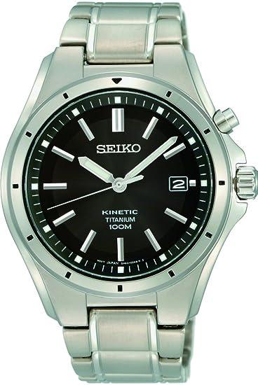 Seiko Kinetic Reloj Automático para hombres de titanio: Amazon.es: Relojes
