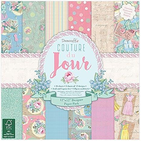 Dovecraft_P3, Papel, Multicolor, 12x12 Paper Pack: Amazon.es: Hogar