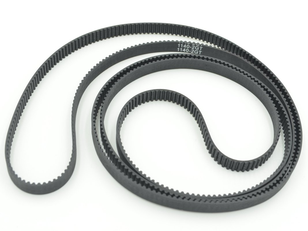 POWGE GT2 Timing Belt L=1140mm W6=6mm 570 Teeth Color Black Pack in Closed Loop Of 10pcs Ningbo Jiangbei Powge Transmission Component Co. Ltd