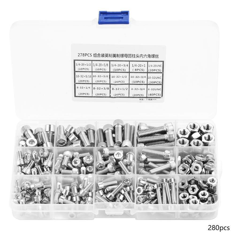 Screw Assortment 280pcs Stainless Steel Screws Screw Assortment kit Screw Set Made of 304 Stainless Steel Screw Set