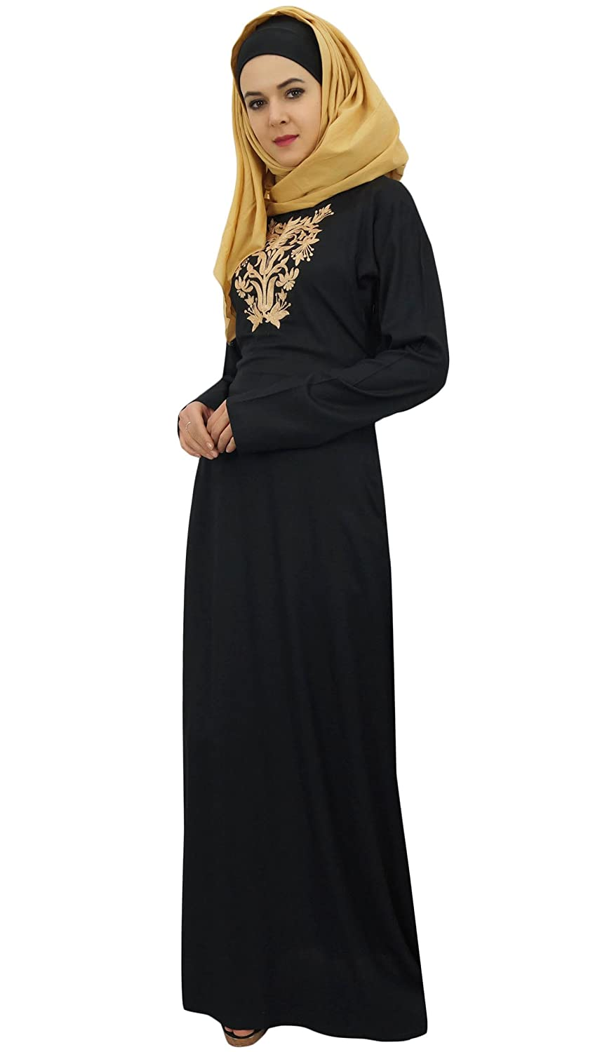 e6b87feaca4 Bimba Women s Long Rayon Maxi Abaya Jilbab Islamic Dress with Hijab   Amazon.co.uk  Clothing