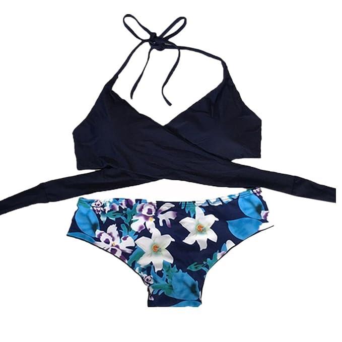 Bikini Alto Mujer SMARTLADY Brasileño Halter Traje De Baño para Femenino (XL)
