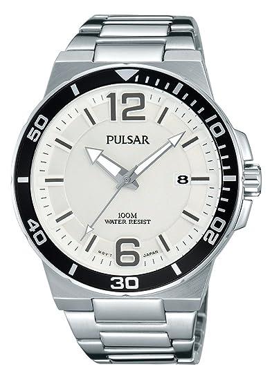 Pulsar Reloj DE Hombre Cuarzo 43MM Correa Y Caja DE Acero DIAL Plata PS9403: Pulsar: Amazon.es: Relojes