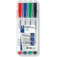 STAEDTLER Lumocolor 341 WP4 markery do tablic suchościeralnych na sucho, nie pozostawiają śladów, uniwersalna końcówka…
