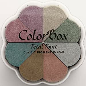 Clearsnap Colorbox Pigment Petal Point Option Pad, Metalextra Brocade, 8 Colors Per Pad