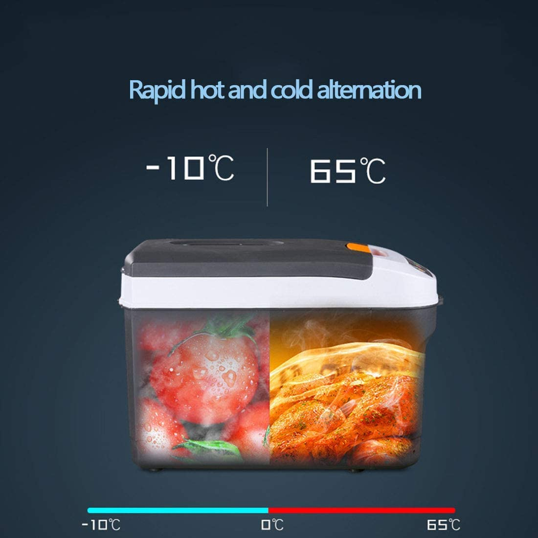 JFFFFWI Car Refrigerator Mini Refrigerator 12V//24V~240V For Cars And Homes Portable Refrigerators For Heating And Cooling Digital Display Electric Cold Boxes Suitable For Travel And Camping 11L