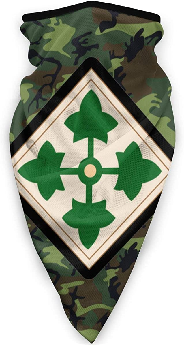 4th Infantry Division Wo Txt Outdoor Face Mouth Mask Windproof Sports Mask Ski Mask Shield Scarf Bandana Men Woman