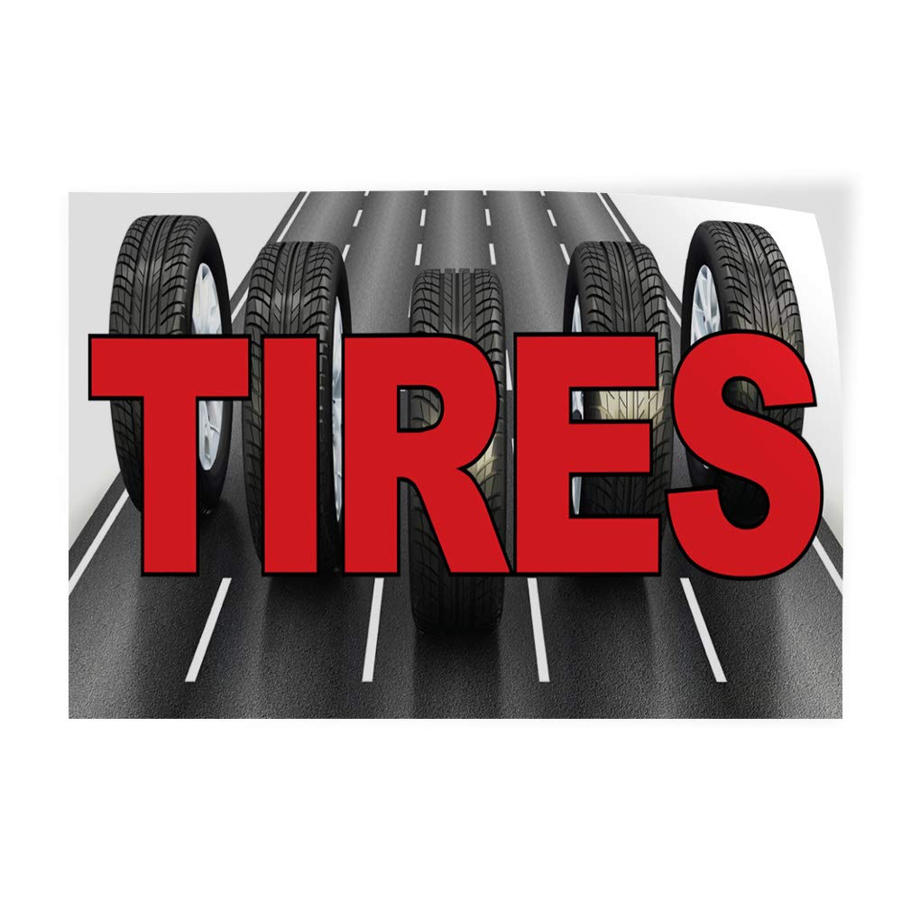 One Sticker Decal Sticker Multiple Sizes Tires Auto Car Vehicle Automotive Tires Outdoor Store Sign Grey 69inx46in