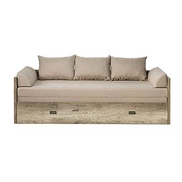 SMARTBett malkolm de sofá Cama Extensible 80/160 Roble ...