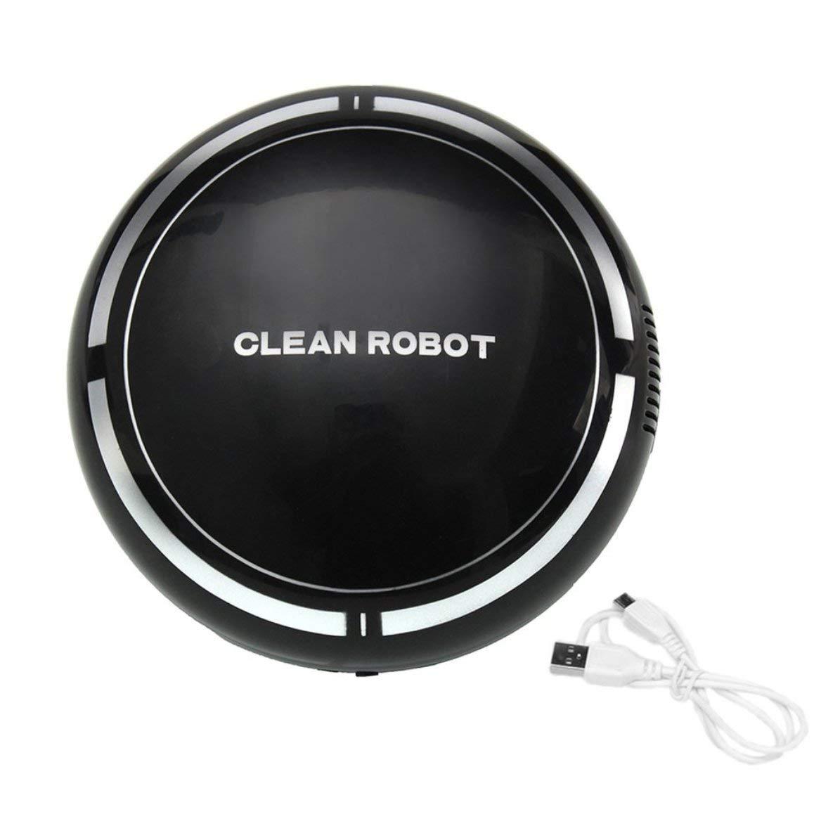 DoMoment USB Recargable Smart Clean Robot Aspirador Automático Limpiador de Pisos Barredor Limpiador Hogar Bajo Ruido Colector de Polvo: Amazon.es: Hogar