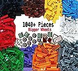 Best sell in US market, Dreambuildertoy building bricks 1040 pieces set, 1000 basic building blocks in 10 popular colors,40 bonus fun shapes includes wheels, doors, Windows, compatible to major brands
