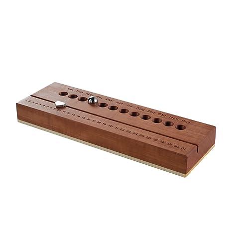 De alta calidad fabricado en madera y calendario perpetuo de ...