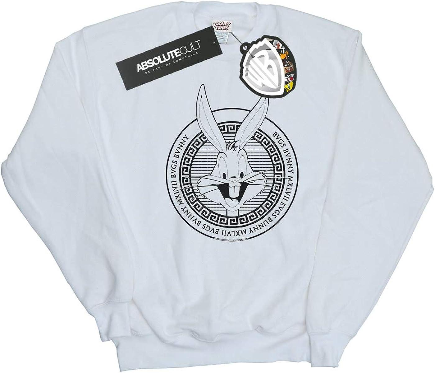 ABSOLUTECULT Looney Tunes Girls Bugs Bunny Greek Circle Sweatshirt