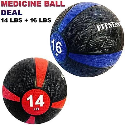 Balón de medicina Maniac de 1,37 kg + 0,45 kg para gimnasio, goma ...
