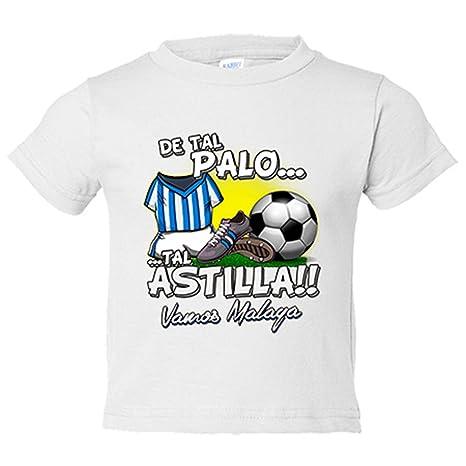Camiseta niño De tal palo tal astilla Málaga fútbol - Blanco, 7-8 años