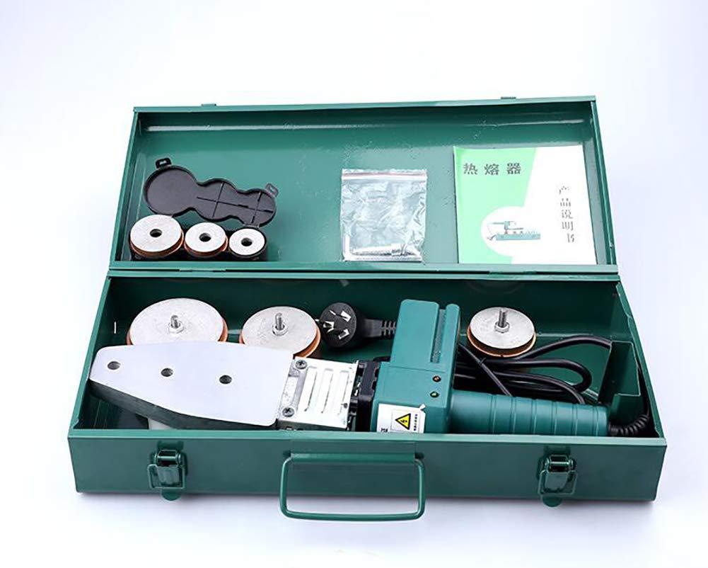 Soldador de Tuberia Plastica 800W/900W,220V-50Hz 20-32mm,20-63mm,Diseño para Tubos de Esquina,Polifusor Kit Soldadura para PPR/PE/PP/PVDF,6Dies900W: ...
